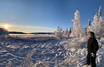 wilderness hike, winter wilderness hike, north star adventures