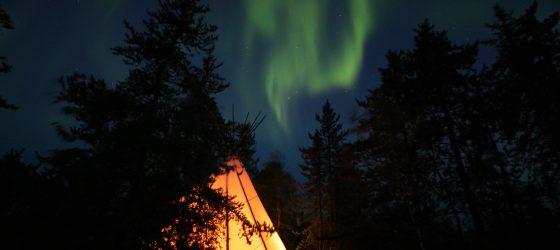 aurora teepee tour, aurora tipi tour, north star adventures, aurora tours