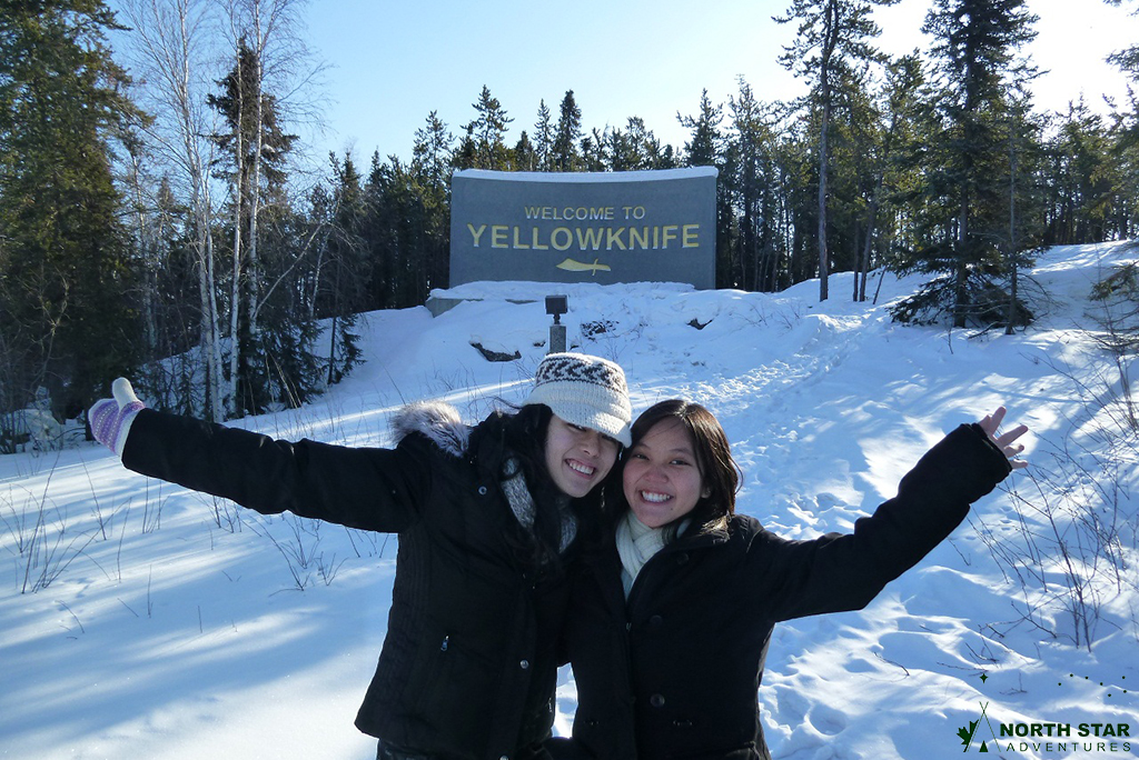 North Star Adventures guests enjoying the winter wonder of the Aurora capital of the world, Yellowknife!