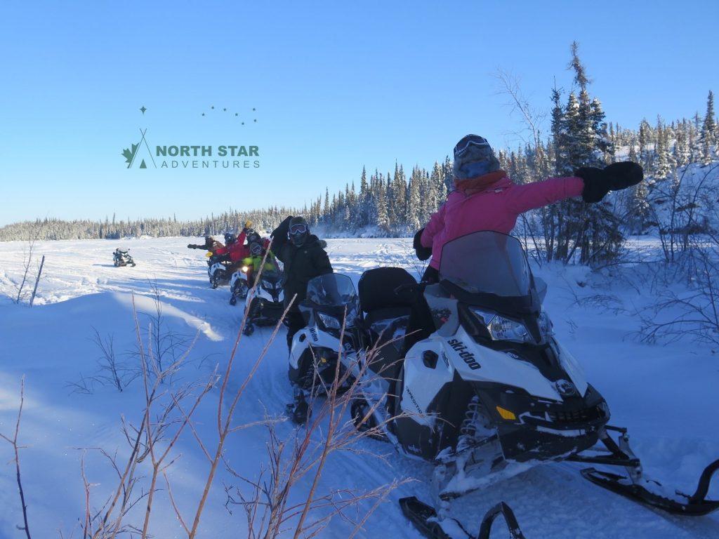 snowmobile tour, snowmobile wilderness tour, north star adventures