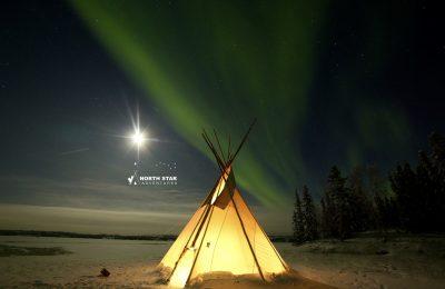 aurora teepee, aurora tipi tour, north star adventures