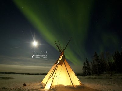 aurora teepee, aurora tipi tour, north star adventures